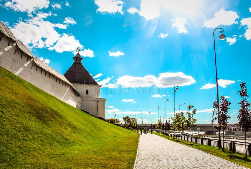 喀山克里姆林宫,鞑靼斯坦共和国 免版税库存图片