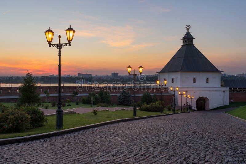 喀山克里姆林宫 喀山市,俄罗斯 免版税库存照片