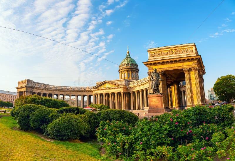 喀山大教堂在圣彼得堡,俄罗斯 库存照片
