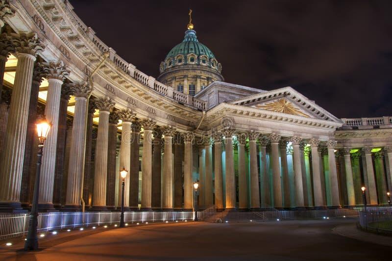 喀山大教堂在圣彼德堡 库存照片