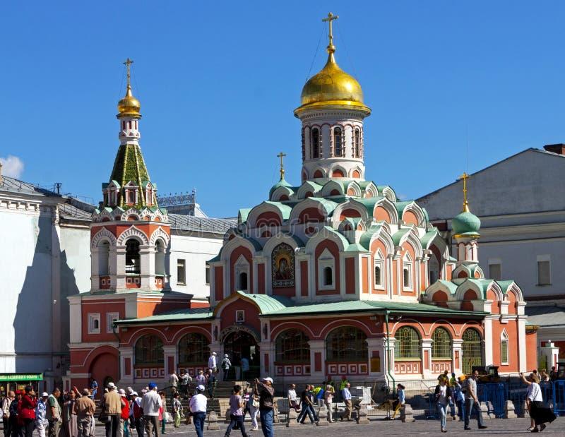 喀山大教堂在莫斯科 库存照片