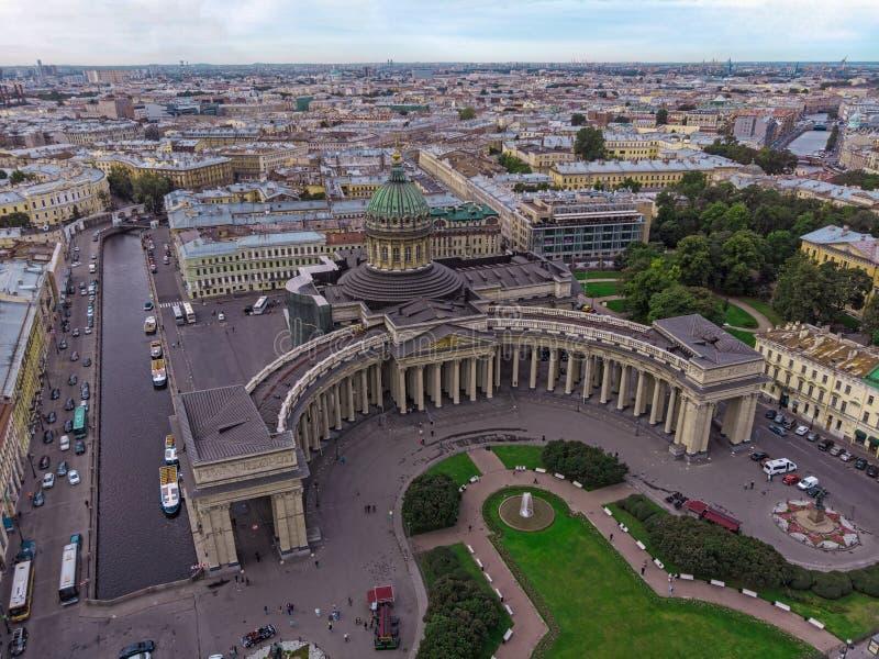 喀山大教堂,圣彼得堡市,俄罗斯 库存图片
