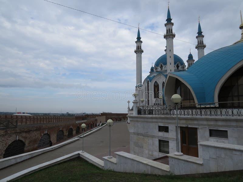 喀山库尔谢里夫主要清真寺在克里姆林宫 免版税库存图片