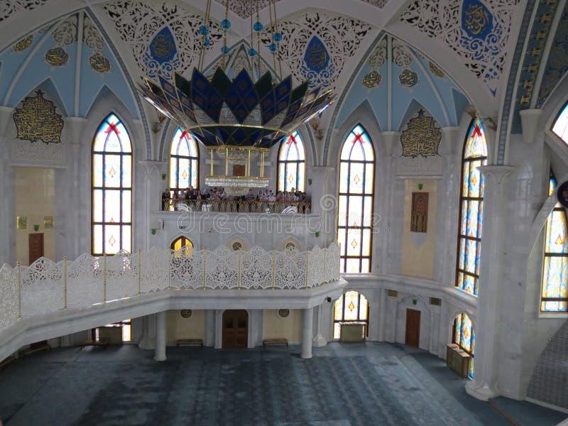 喀山库尔谢里夫主要清真寺在克里姆林宫 图库摄影