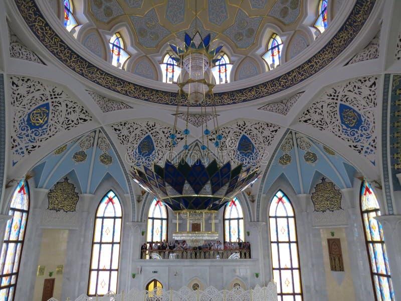 喀山库尔谢里夫主要清真寺在克里姆林宫 免版税库存照片