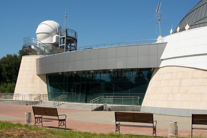 喀山,俄罗斯联邦- 2017年8月14日:喀山联邦大学天文馆以A命名的 A 列昂诺夫 免版税库存图片