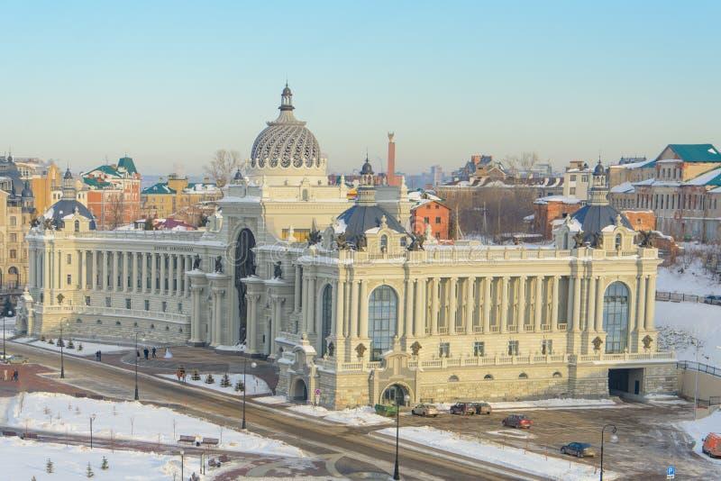 喀山,俄罗斯- 23 02 2016年:农夫`宫殿-部环境和农业 库存图片