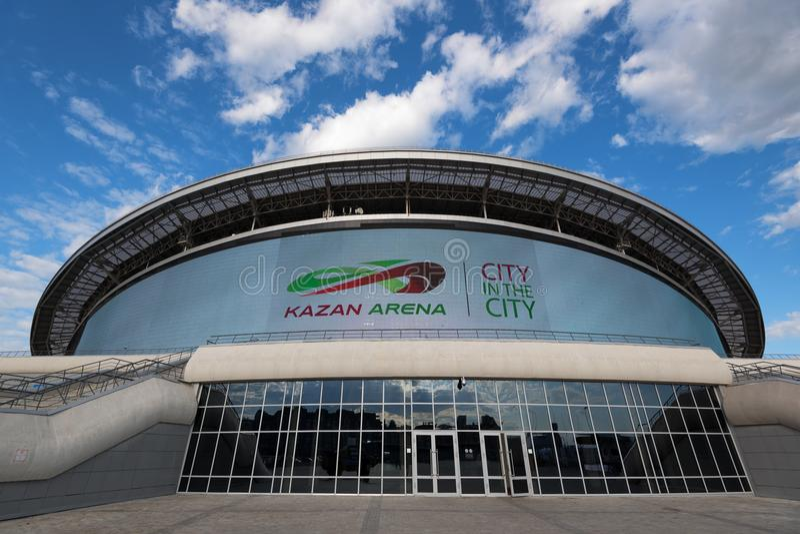 喀山,俄罗斯- 2016年6月3日:体育场喀山竞技场在俄罗斯 免版税图库摄影