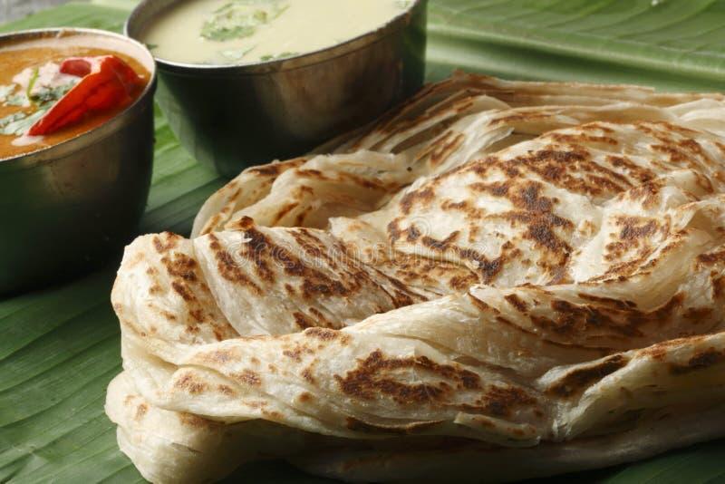喀拉拉Paratha -从喀拉拉的层状小面包干 免版税库存照片