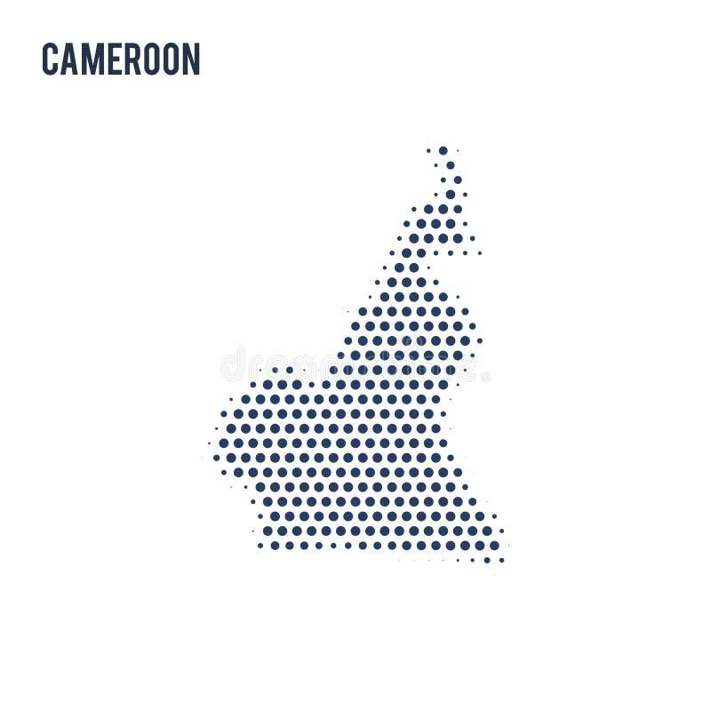 喀麦隆的被加点的地图在白色背景隔绝了 皇族释放例证