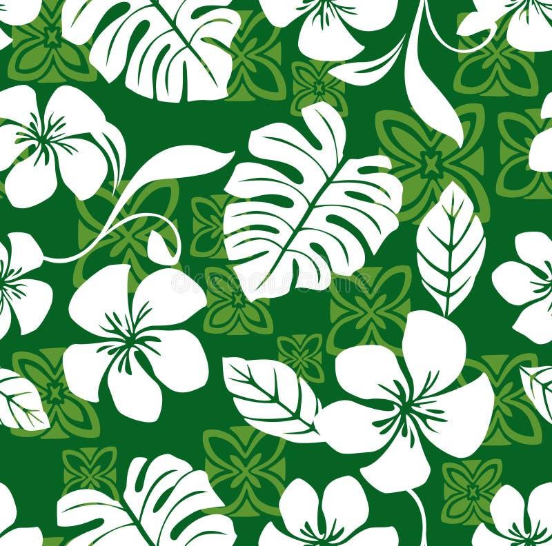 喂星期五夏威夷模式无缝的衬衣 库存照片