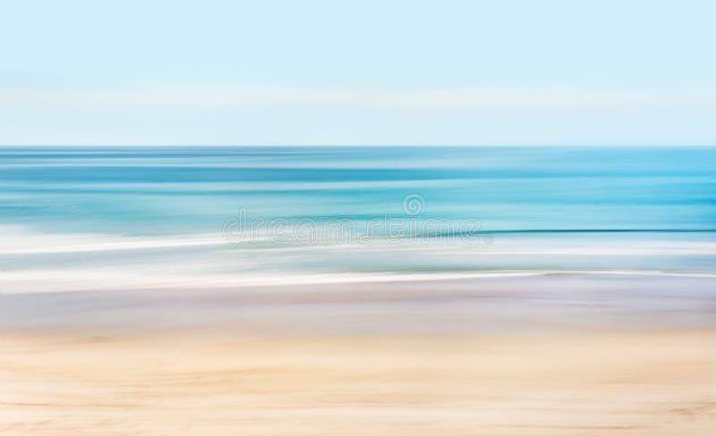 喂钥匙抽象海景 库存照片