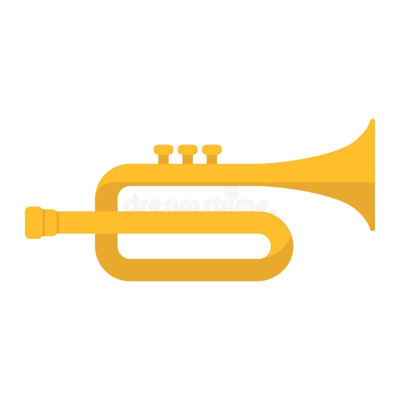 喇叭平的象、音乐和仪器 库存例证