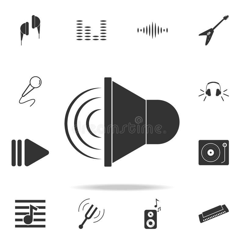 喇叭象 乐器元素象详细的集合象  优质质量图形设计 其中一个汇集象fo 皇族释放例证