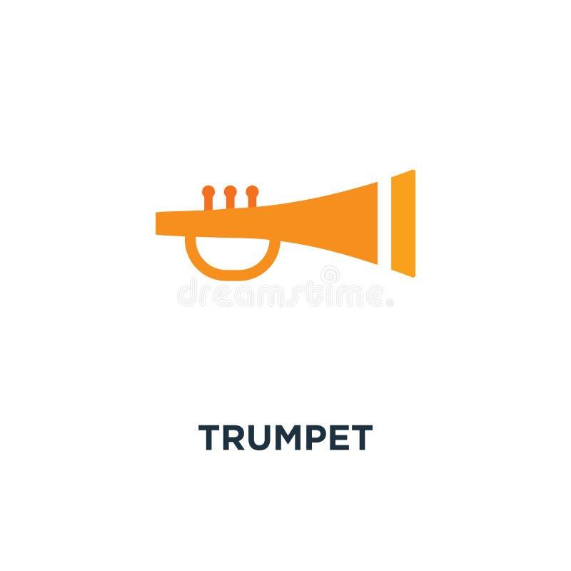 喇叭象 乐器概念标志设计,爵士音乐 皇族释放例证
