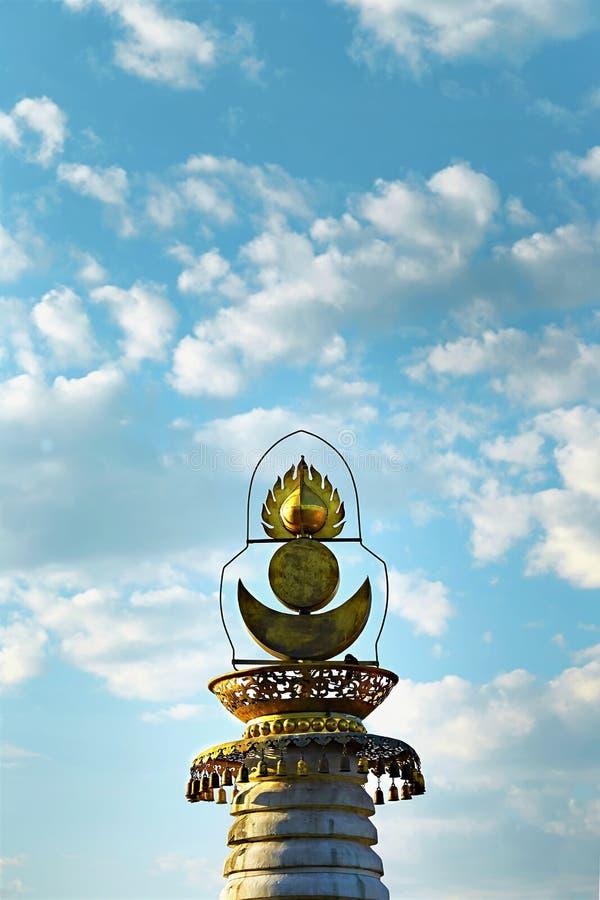 喇嘛教徒塔在中国的颐和园 库存图片