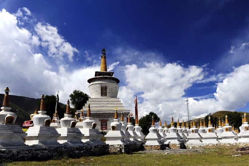 喇嘛教徒塔 免版税图库摄影