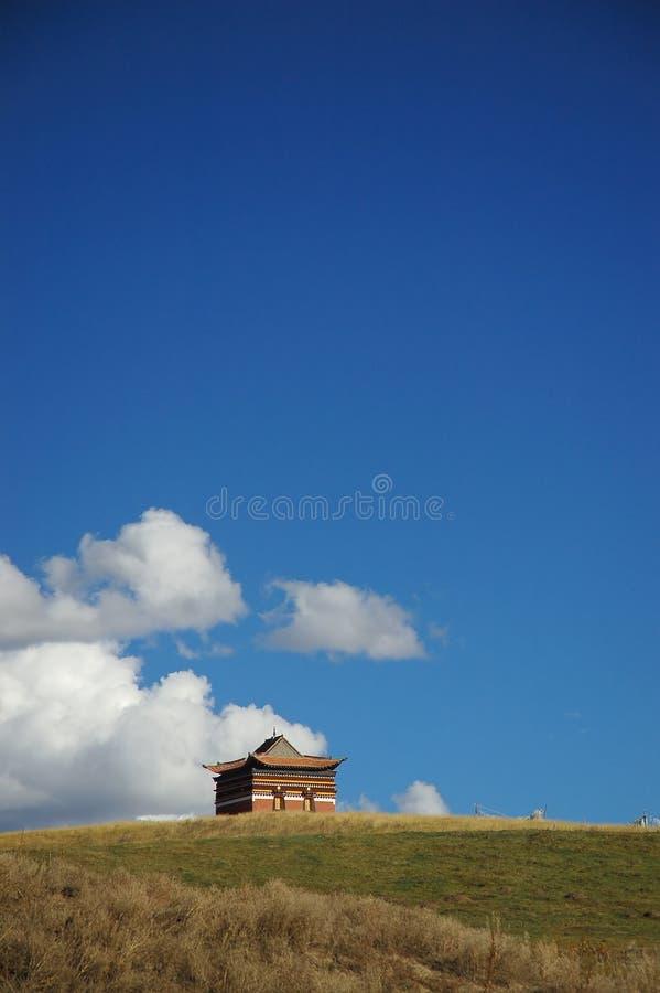 喇嘛教藏传佛教寺庙西藏 图库摄影