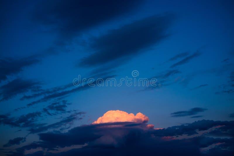喜怒无常的天空 图库摄影
