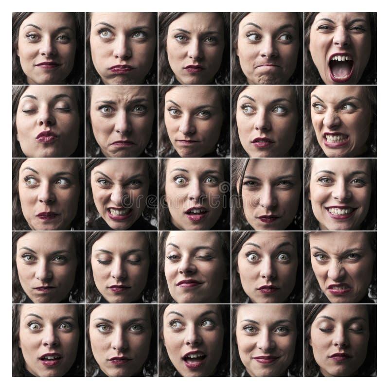喜怒无常的妇女 免版税库存图片