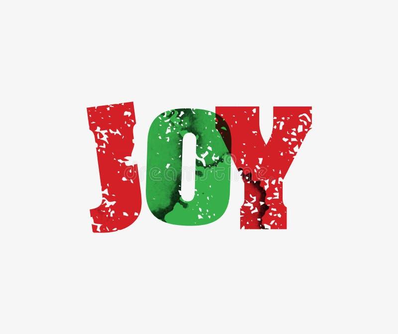喜悦概念被盖印的词艺术例证 皇族释放例证