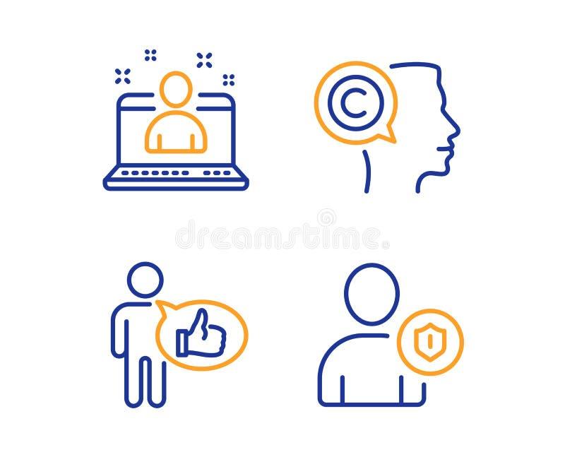 喜欢、作家和最佳的经理象集合 安全标志 赞许,Copyrighter,最佳的开发商 向量 向量例证
