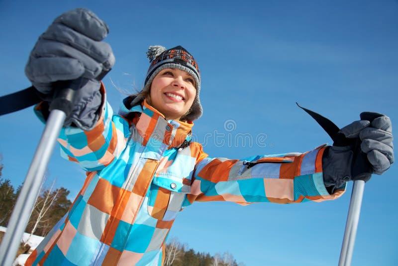 喜欢滑雪 免版税库存照片