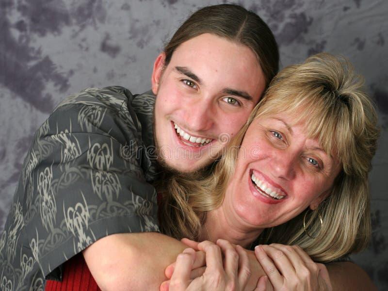 喜爱母亲儿子 图库摄影
