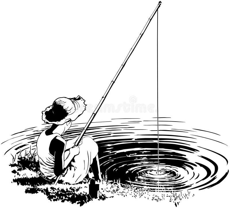 喜爱的渔孔 向量例证