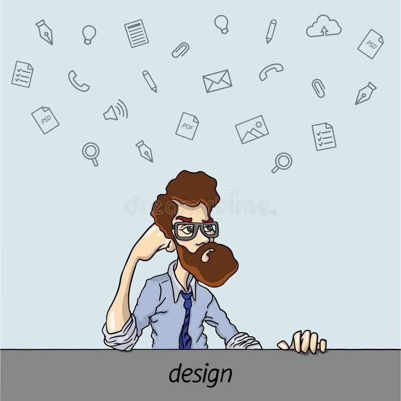 Download 喜爱的节目和工具设计师 库存例证. 插画 包括有 每日, 人们, 工友, 程序, 自由职业者, 连接数, 字符 - 62537600
