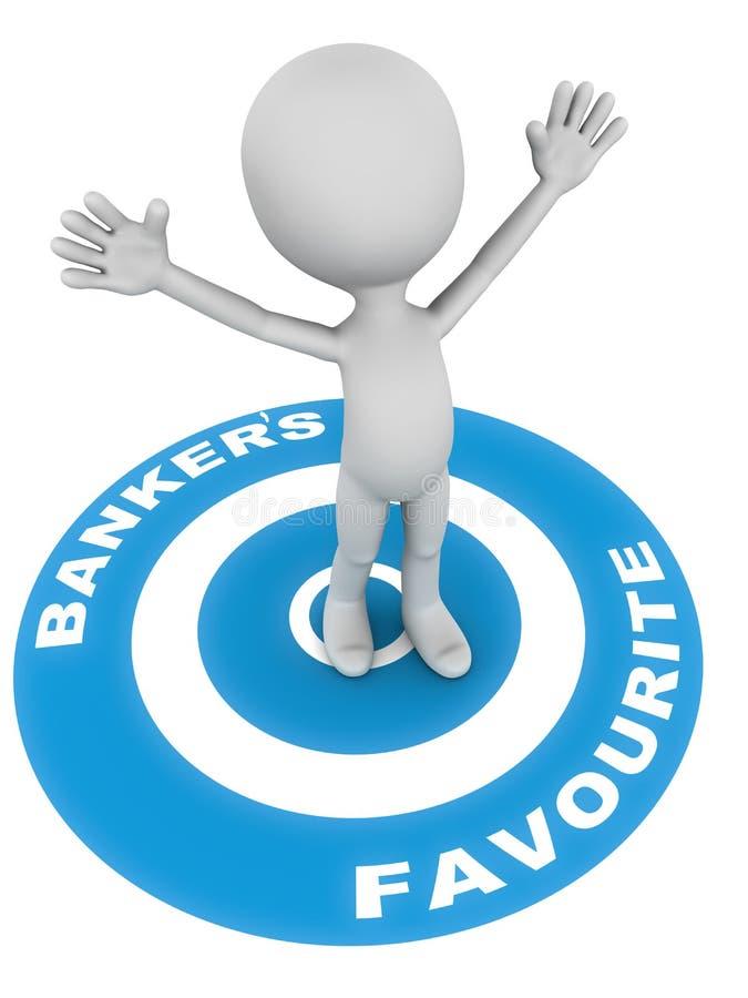 喜爱的银行家 向量例证