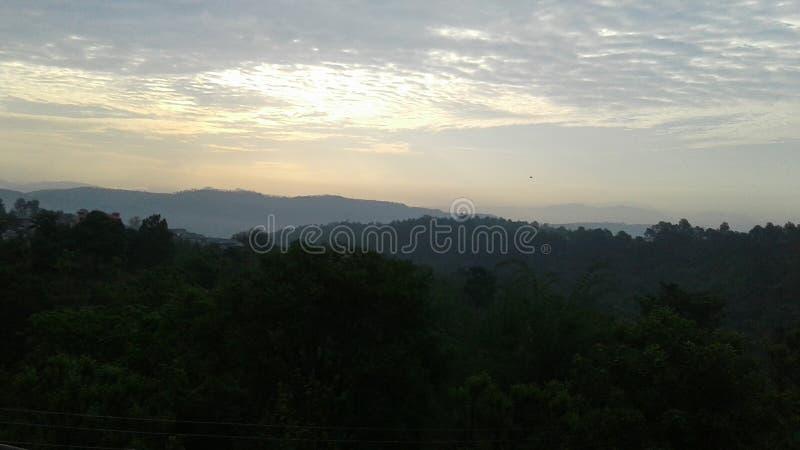 喜马偕尔邦的小山驻地 库存照片