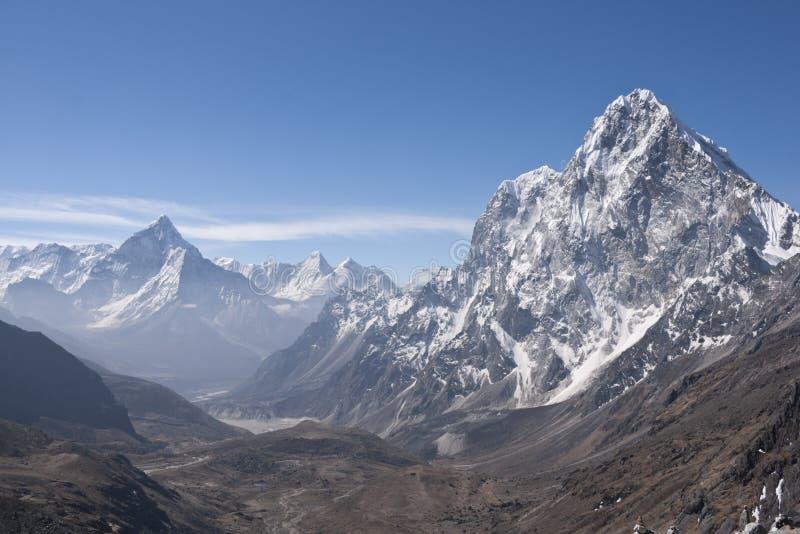 喜马拉雅全景 免版税库存图片