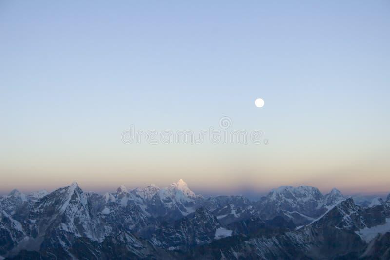 喜马拉雅尼泊尔日出 库存照片