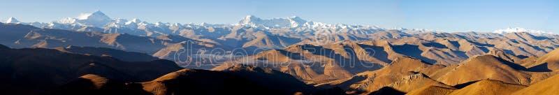 喜马拉雅山全景 免版税库存图片
