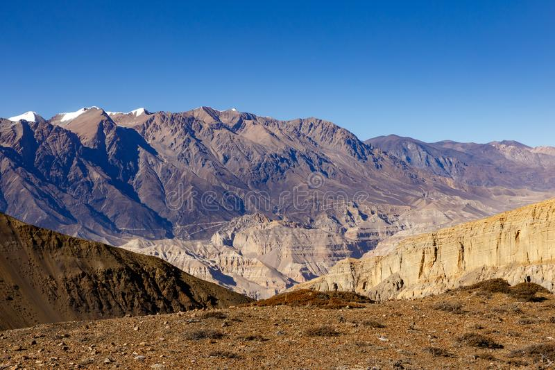 喜马拉雅山山,尼泊尔 免版税库存照片