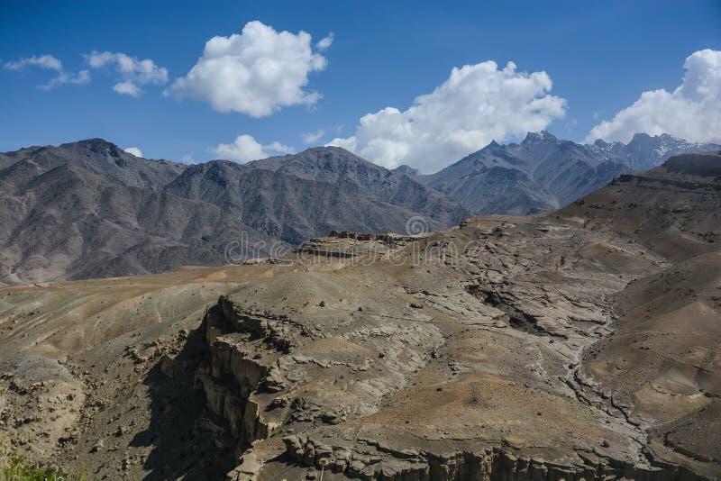 喜马拉雅山范围山风景在夏天 免版税库存照片