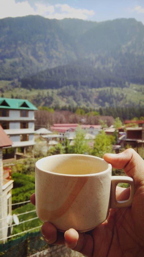 喜马拉雅山,从tosh村庄的看法 免版税库存图片