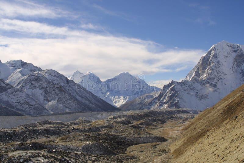 喜马拉雅山khumbu山顶 免版税库存图片