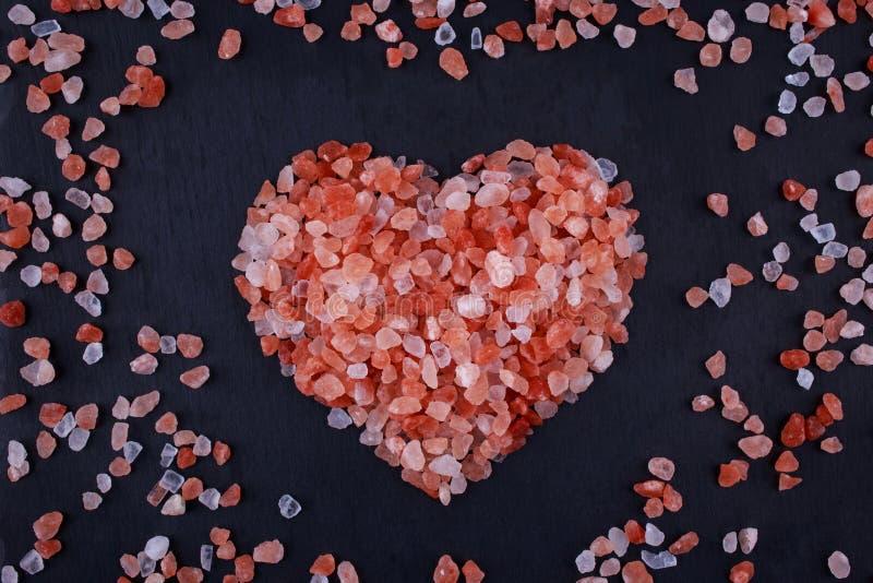 喜马拉雅桃红色盐 免版税库存图片