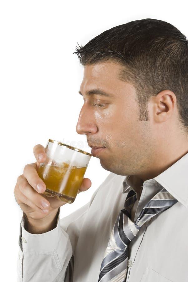 喝一些威士忌酒 免版税库存图片