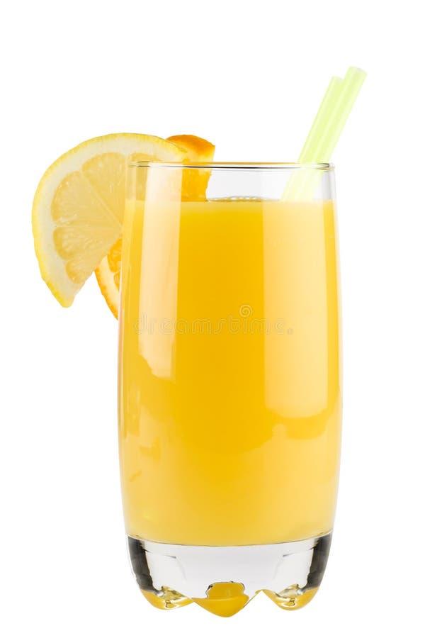喝柠檬片式秸杆黄色 库存图片