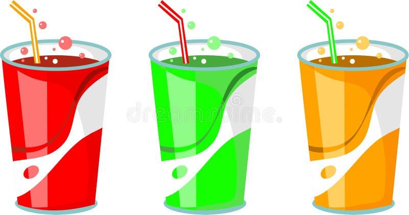 喝碳酸钠 向量例证