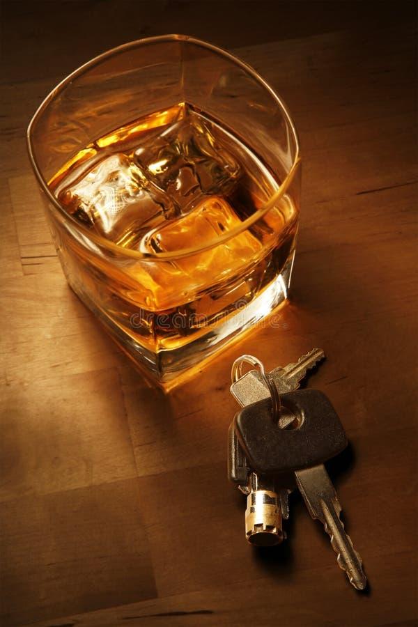 喝酒开车 图库摄影