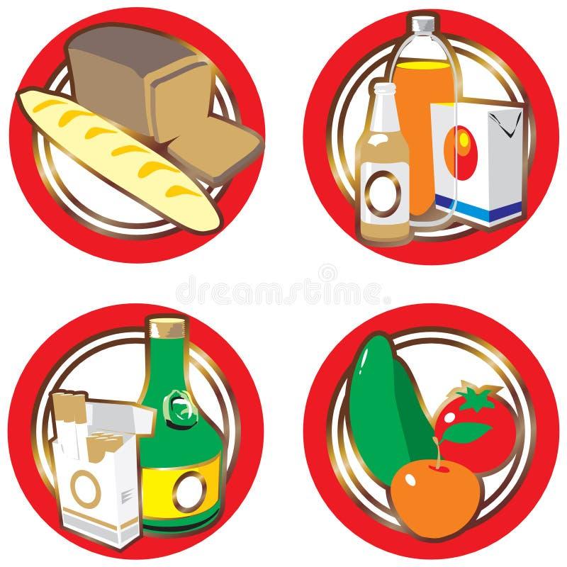 喝食物图标 皇族释放例证
