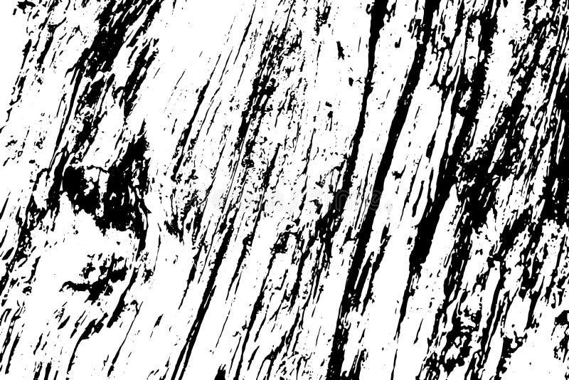 喧闹的木纹理 粗砺的木材黑白纹理 被风化的漂流木头吠声表面 向量例证