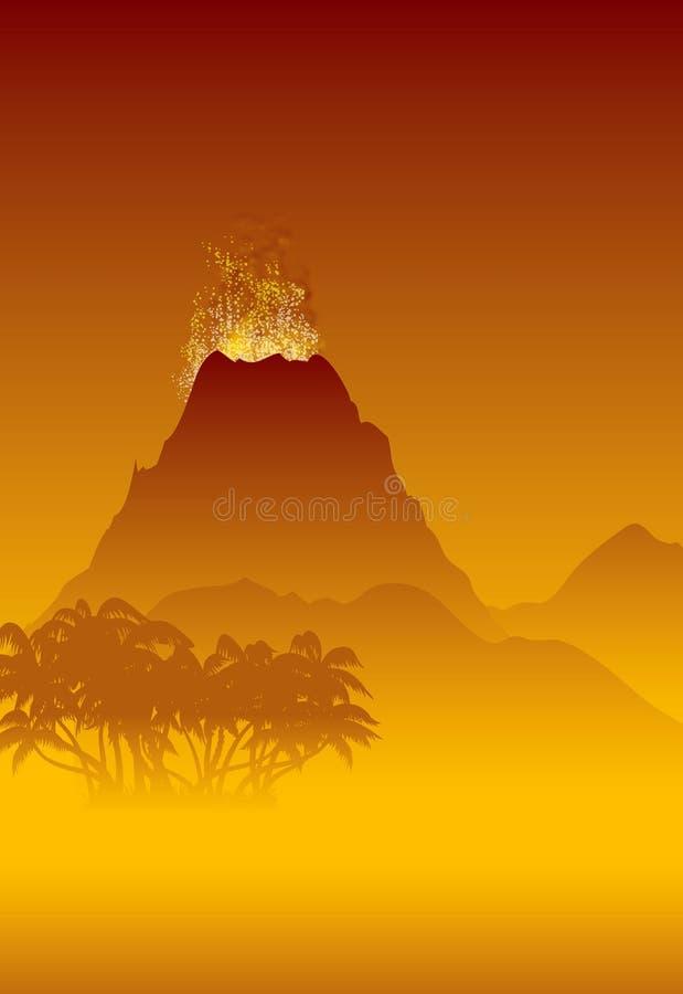 喷发的火山 库存照片