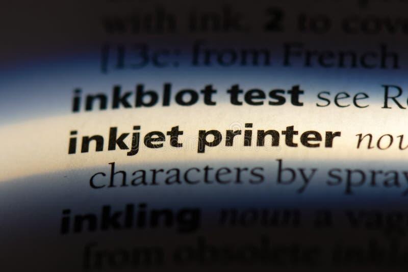 喷墨打印机 库存照片