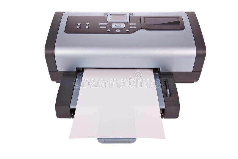 喷墨机查出打印机白色 图库摄影