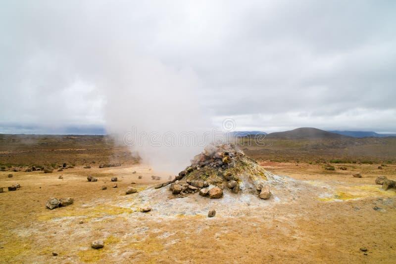 喷气孔,冰岛 库存图片